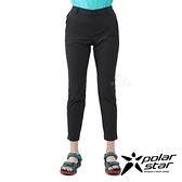 PolarStar 女 涼爽彈性抗UV九分褲『黑色』P21358 戶外 休閒 登山 露營 運動褲 釣魚褲