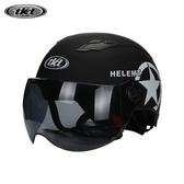 TKD摩托車頭盔電動車安全帽夏季防曬男女輕便式半盔防紫外線夏盔