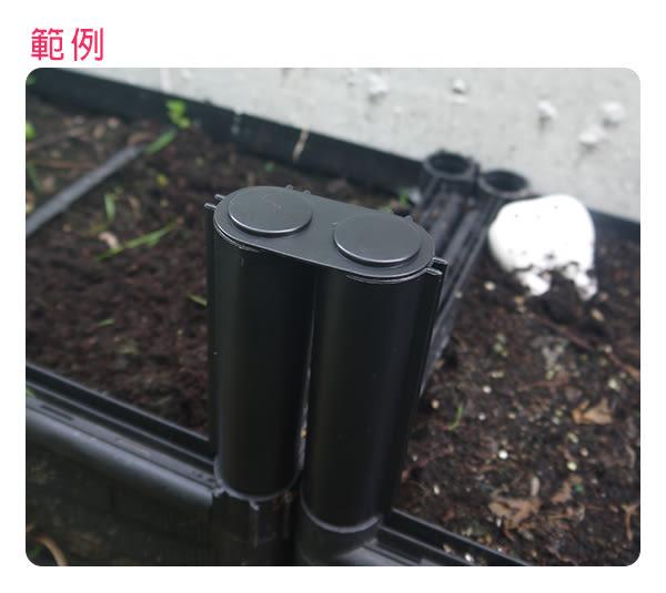 【綠藝家】護蓋(雙連小蓋-新款)裝於接桿的上方(DIY種植箱專用)