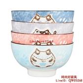 家用陶瓷飯碗日式餐具組合套裝吃飯卡通招財貓碗【時尚好家風】