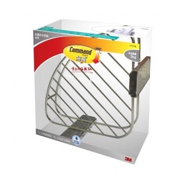 3M 無痕金屬防水收納系列 三角置物架