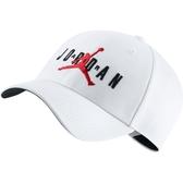 NIKE JORDAN 白色 刺繡 可調 老帽 男女(布魯克林) CK1248-100
