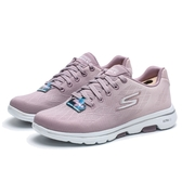 SKECHERS GO WALK 5 粉紫 銀線 網布 綁帶 健走 休閒鞋 女 (布魯克林) 15929MVE