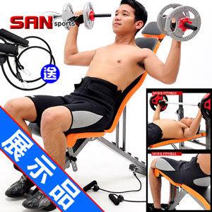 (展示品)變態金剛健腹機.仰臥起坐板仰臥板.啞鈴椅健腹器舉重床.運動健身器材.推薦哪裡買