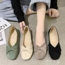 豆豆鞋 平底奶奶單鞋女鞋子新款春季百搭舒適工作軟底豆豆淺口春鞋 阿薩布魯