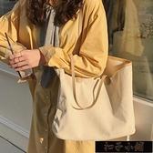 女包2020新款韓版大容量帆布包女單肩ins學生文藝簡約百搭手