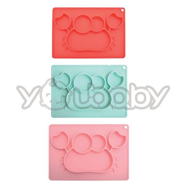 EXPECT 矽膠餐盤 (螃蟹) /矽膠餐盤/兒童餐盤