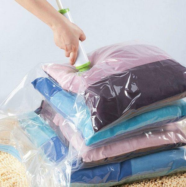 壓縮袋 【BPB003】真空衣被透明壓縮袋收納袋70*100cm 防潮 防蟲 素面透明 123ok
