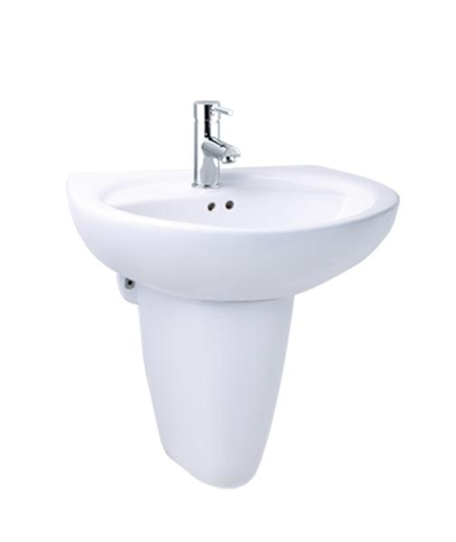 《修易生活館》 凱撒衛浴 CAESAR 單孔面盆 LS2220 S 半瓷腳 P2443 (不含龍頭)