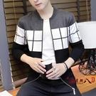 針織外套 男士秋季外套2020新款韓版潮流毛衣針織開衫長袖修身薄款春秋男裝 VK3083