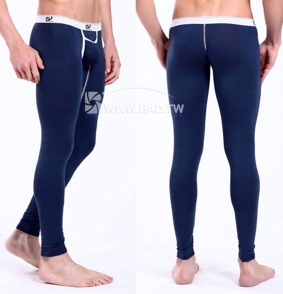 壞男BF《型男前檔上開 居家合身萊卡棉質低腰長褲》(灰藍)【S / M / L】(居家褲、保暖褲)