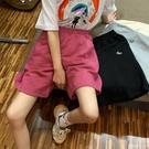 五分褲 夏季bf風2021新款五分褲女直筒港味寬鬆半褲高腰闊腿休閒運動短褲 【99免運】