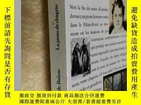 二手書博民逛書店法文原版罕見La Peau de chagrin Honoré De BalzacY7215 Honoré D