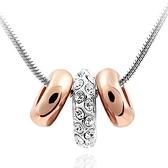 925純銀項鍊 鑲鑽墜飾-鎖骨短款生日情人節禮物女飾品1色73aj73【巴黎精品】