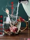 熱賣玻璃杯 琺瑯彩水杯家用玻璃咖啡杯可愛少女創意簡約茶杯杯子帶蓋 coco