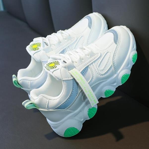 兒童運動鞋女童老爹鞋2020秋季新款中大童小學生皮面加絨二棉童鞋 雙十一全館免運