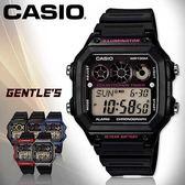 CASIO手錶專賣店 卡西歐 AE-1300WH-1A2 男錶 黑框紅字 電子錶 運動 防水100米 LED照明 橡膠錶帶