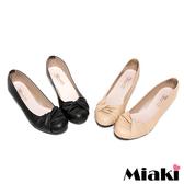 【Miaki】MIT 流行百搭抓皺造型低跟包鞋娃娃鞋