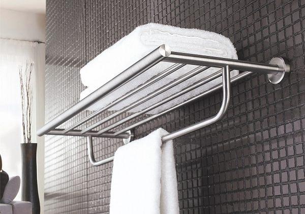 浴室 衛浴 置衣架 放衣架 毛巾架 置物架 304不銹鋼(砂光拉絲) 上下雙層收納 質優型美!