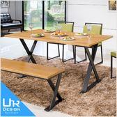 北歐工業風派克5尺全實木面餐桌(18I20/A438-04)