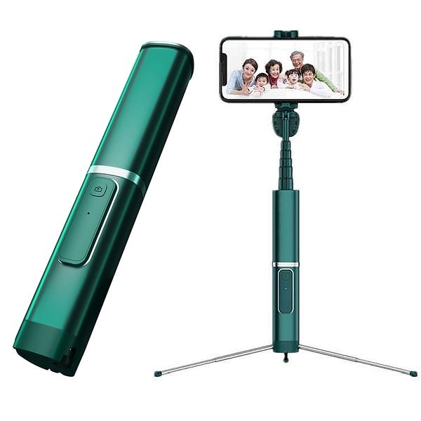 新品!! 森墨綠 藍牙自拍棒 一體式三腳架 幻影手機自拍伸縮棒 橫拍 豎拍 360度自由旋轉 NCC認證