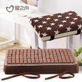 長方形夏天服裝廠坐墊麻將涼席學生椅墊凳夏季 LQ2944『小美日記』