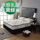 床墊 獨立筒 飯店用-超涼感紗-咖-乳膠抗菌蜂巢獨立筒床墊-雙人5尺-破盤價-$8999