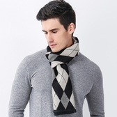羊毛圍巾-拼色菱格流蘇休閒男女披肩3色73ph23【巴黎精品】