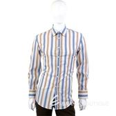 KENZO 漸層色系條紋長袖襯衫(咖啡/藍色) 0520350-62