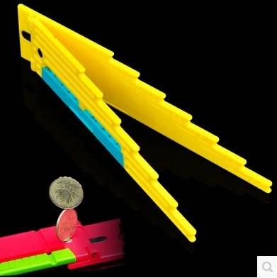 [協貿國際]  多功能子線尺帶鉤距折疊子線板繞線板
