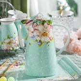 陶瓷冷水壺 歐式骨瓷水具大容水壺耐高溫耐熱家用茶壺