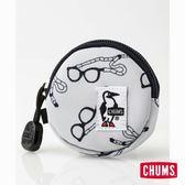 CHUMS 日本 Eco 圓形零錢包 眼鏡帶印花 CH600854Z112