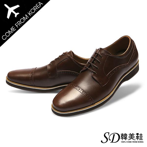 男鞋 韓國空運 簡約設計款雕花 嚴選質感皮革 紳士皮鞋德比鞋【F730411】2色 SD韓美鞋