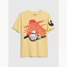 Gap男童Star Wars星球大戰系列棉質舒適圓領短袖T恤539455-哈瓦那黃