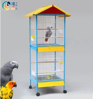 大型寵物鳥籠子 鳥籠金屬豪華觀賞大號群鳥籠 XW樂居旗艦店