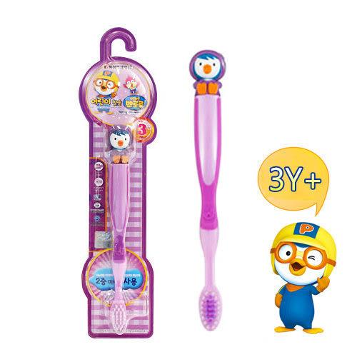 里和Riho 韓國KM 淘氣小企鵝 小企鵝妹妹佩蒂 兒童牙刷 3歲以上適用 韓國製造 Pororo