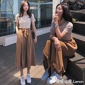 兩件套裝 年新款女裝春夏季T恤褲子復古寬鬆短袖學生閨蜜超仙兩件套裝 618購物節