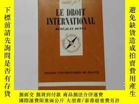 二手書博民逛書店法文原版罕見LE DROIT INTERNATIONAL 106