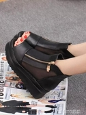 網紅涼鞋女仙女風新款百搭時尚厚底增高跟魚嘴鬆糕厚底楔形鞋 ciyo黛雅