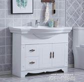 歐式浴室櫃組合落地式仿古衛浴櫃衛生間洗臉盆小戶型洗手池洗漱臺igo 依凡卡時尚