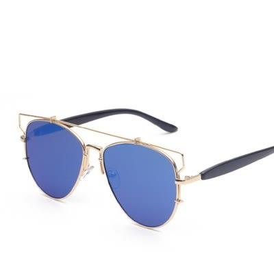 太陽眼鏡-經典貓眼露框設計男女偏光墨鏡11色73en57[巴黎精品]