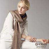 【ST.MALO】秘魯原裝100%羊駝原色輕暖圍巾-1713WS-咖啡棕