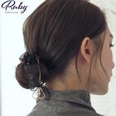 髮飾 RCha。韓‧垂墜愛心丸子頭盤髮器-Ruby s 露比午茶