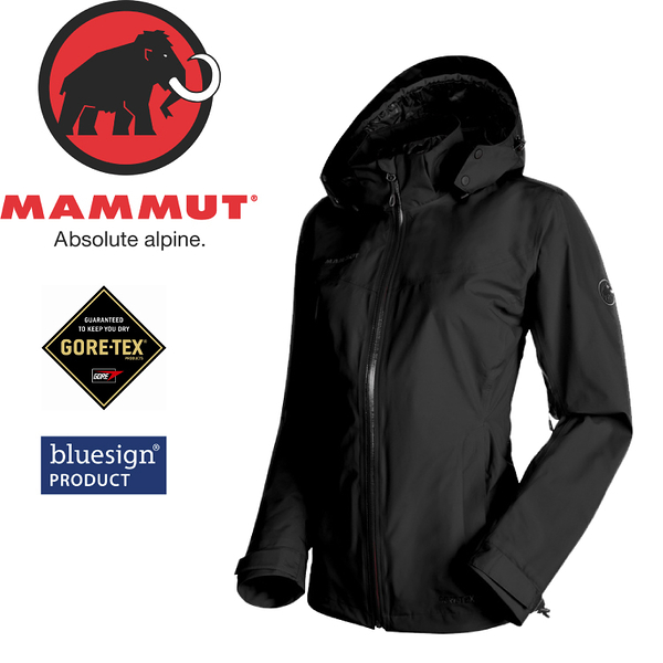 【MAMMUT Ayako Tour HS Jacket 女《黑》】1010-26060-0001/Gore-Tex/防水透氣/風雨衣/連帽防水外套