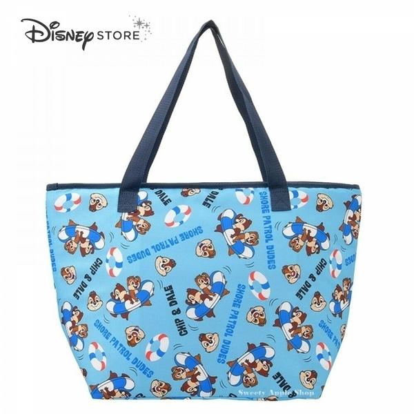 (現貨) 日本 DISNEY STORE 迪士尼商店限定 奇奇蒂蒂 泳圈版 保溫袋 /手提包 / 收納袋 / 野餐袋