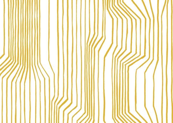 幾何圖形 黃白條紋壁紙 marimekko  Frekvenssi Mustard 23367