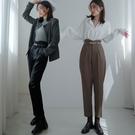 現貨-MIUSTAR 韓系腰封式腰頭西裝褲(共3色,S-XL)【NJ2272】