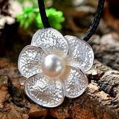 項鍊 925純銀珍珠吊墜-浪漫小花情人節生日禮物女飾品73hi41【時尚巴黎】