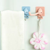 ♚MY COLOR♚多功能雙鉤支架 掛鉤 毛巾 懸掛 擦手 廚房 浴室 黏貼 旋轉 防滑 通風【Q249-1】