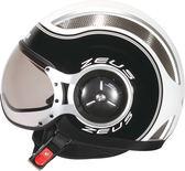 【東門城】ZEUS ZS218 SS6 (白黑) 半罩式安全帽 復古帽